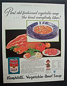 1934 Campbell's Vegetable - Beef Soup