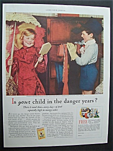 1935 Cream Of Wheat Cereal with Girl & Boy Playing (Image1)