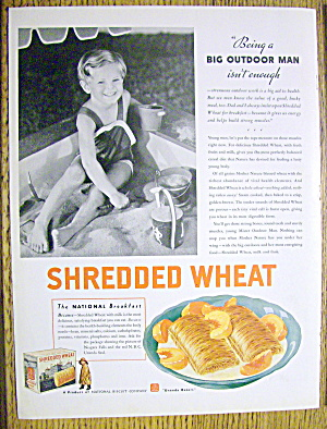 1935 Shredded Wheat Cereal With Boy In Sandbox