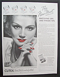 1935 Cutex Nail Polish & Lipstick