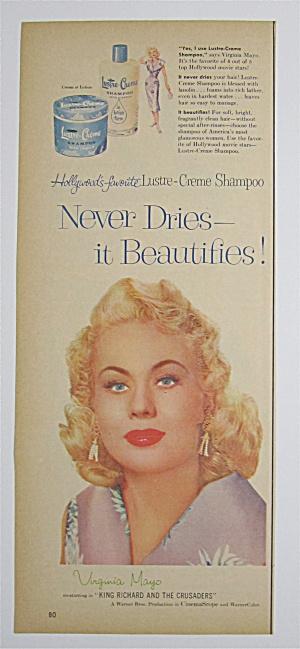 1954 Lustre Creme Shampoo with Virginia Mayo (Image1)