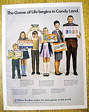 1970 Milton Bradley Board Games w/Family Holding Games (Image1)
