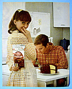 Vintage Ad:1970 Betty Crocker Chocolate Fudge Frosting (Image1)