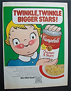 1970 Campbell's Chicken & Stars With Campbell's Kid