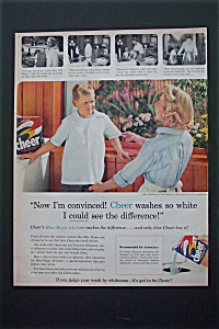 1956 Cheer Detergent with Woman Doing Cheer Test  (Image1)