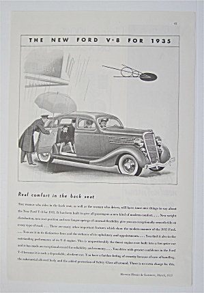 1935 Ford V-8 with Man Holding Umbrella  (Image1)