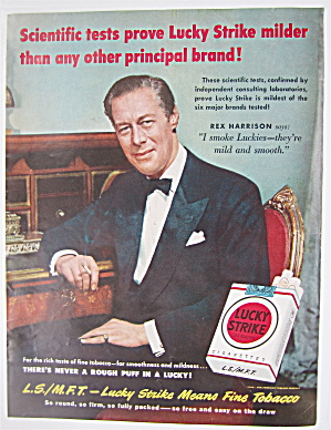1950 Lucky Strike Cigarettes With Rex Harrison