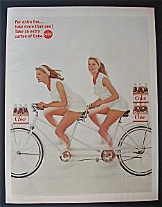 1966 Coca Cola (Coke) w/2 Seated Bike & 2 Women (Image1)