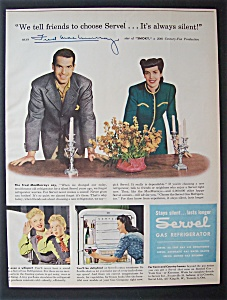 1946 Servel Gas Refrigerator W/ Fred Mac Murray