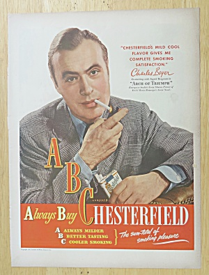 1947 Chesterfield Cigarettes with Charles Boyer (Image1)