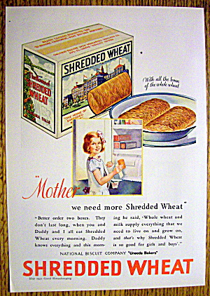 1931 Shredded Wheat with Girl Holding Box of Cereal (Image1)