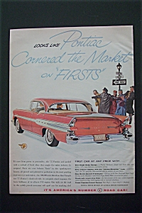 1956 Pontiac With Crossing Guard Making People Wait