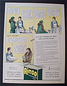 Vintage Ad: 1931 Rinso Laundry Detergent (Image1)