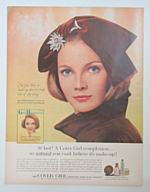 1965 Cover Girl Medicated Make Up w/Lovely Woman in Hat (Image1)