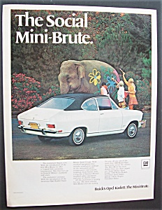 1968 Buick Opel Kadett With Girls Painting An Elephant