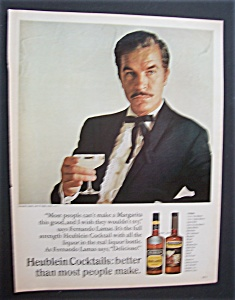 1967 Heublein Cocktail With Fernando Lamas