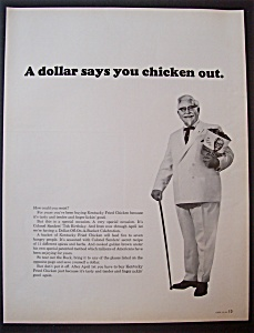 Vintage Ad:1966 Kentucky Fried Chicken With The Colonel (Image1)