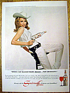 Vintage Ad: 1966 Smirnoff Vodka With Julie Newmar
