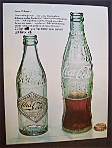 1968 Coca Cola with Two Different Bottles Of Coke  (Image1)