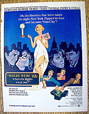 1968 Where Were You When The Lights Went Out /doris Day