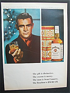 Vintage Ad: 1966 Jim Beam Whiskey With Sean Connery