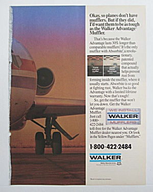 1990 Walker Mufflers with An Airplane  (Image1)