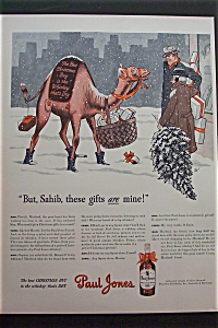 1942 Paul Jones Whiskey With Camel Talking To Men