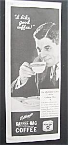 Vintage Ad: 1933  Kellogg's  Kaffee - Hag  Coffee (Image1)