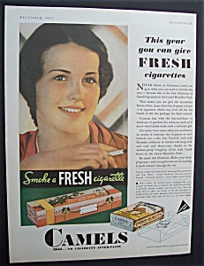 1931 Camel Cigarettes with Woman Smoking a Cigarette (Image1)