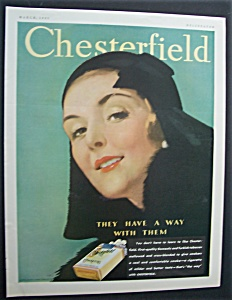 1931 Chesterfield Cigarettes