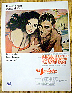 Vintage Ad: 1965 The Sandpiper With Elizabeth Taylor