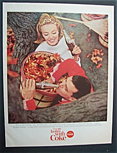 1965 Coca Cola (Coke) w/ Man & Woman Picking Up Leaves (Image1)