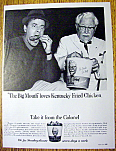 Vintage Ad:1967 Kentucky Fried Chicken With Jerry Lewis