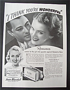 1935 Lux Toilet Soap With Joan Blondell