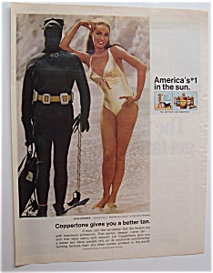 1969 Coppertone Suntan Lotion with Julie Newmar (Image1)