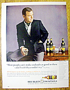 Vintage Ad: 1965 Heublein Cocktails With Gig Young
