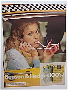 1972  Benson & Hedges  100's  Cigarettes (Image1)