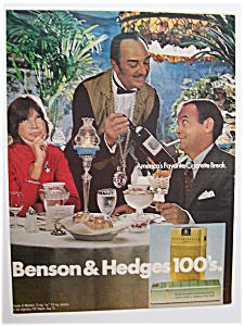 1972 Benson & Hedges 100's Cigarettes