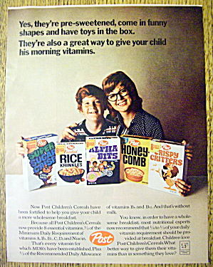 1971 Post Cereals with Mother & Little Boy with Cereals (Image1)