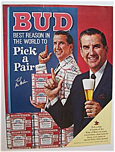 1967  Budweiser  Beer  with  Ed  Mc Mahon (Image1)