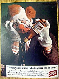 1967 Schmitz Beer with Sad Clown with Beer Gone  (Image1)