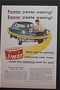 1957 Johnson's J-Wax with Man Waxing His Car (Image1)