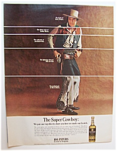 1967 100 Pipers Scotch With Gary Cooper