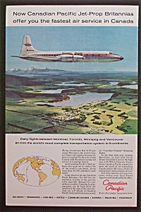 1959 Canadian Pacific With Airplane Flying In The Air
