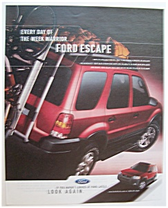 Vintage Ad: 2003 Ford Escape