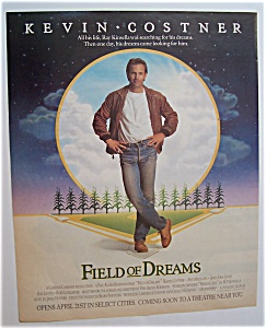 1989 Movie Ad For Fields Of Dreams