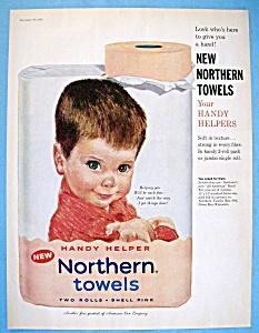 Vintage Ad: 1960 Northern Paper Towels (Image1)