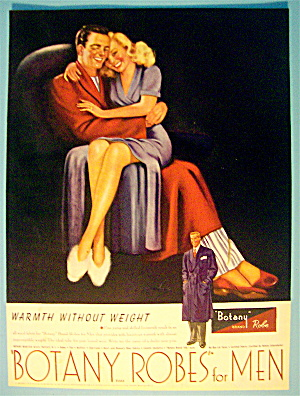 1946 Botany Robes For Men with Woman On Man's Lap (Image1)