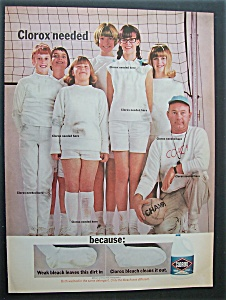 1966 Clorox Bleach with Group of Girls with Coach (Image1)