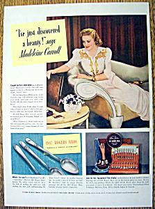Vintage Ad: 1940 1847 Rogers Bros. w/ Madeleine Carroll (Image1)